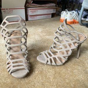 target laser cutout nude heels